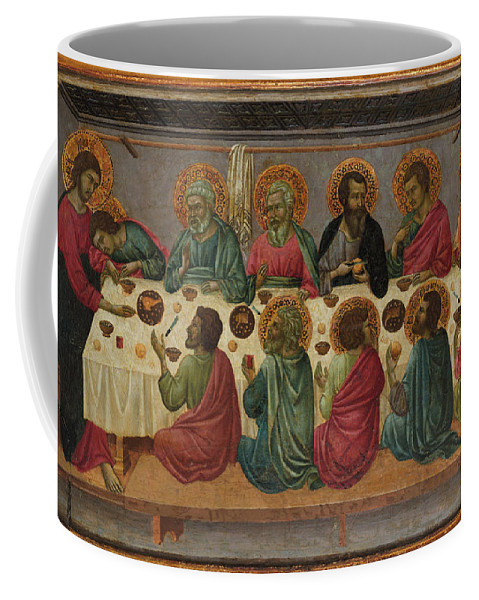 The Last Supper Coffee Mug featuring the painting The Last Supper by MotionAge Designs