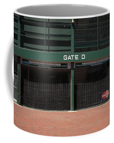 Addison Coffee Mug featuring the photograph Wrigley Field - Chicago Cubs by Frank Romeo