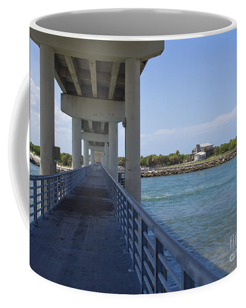 Florida Coffee Mug featuring the photograph Sebastian Inlet State Park In Florida by Allan Hughes