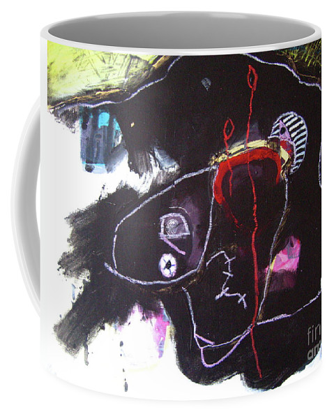 Sjkim Art Coffee Mug featuring the painting Abstract Expressionsim Art by Seon-jeong Kim