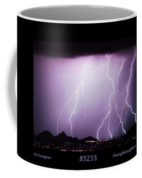 Lightning Coffee Mug featuring the photograph 85255 Fine Art Arizona Lightning Photo Poster by James BO Insogna
