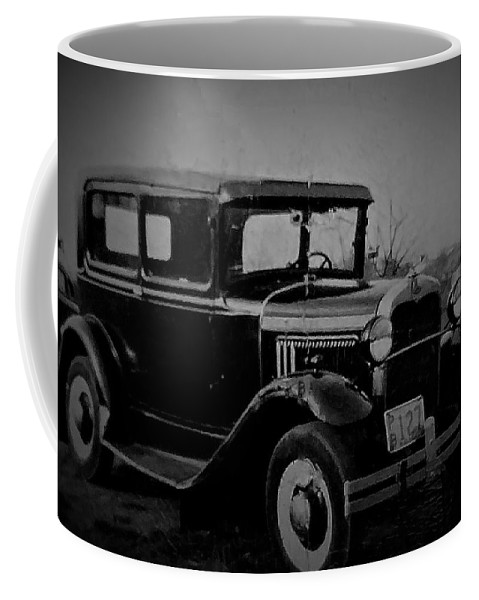 Old Car Coffee Mug featuring the photograph 73 Years Ago by Jerry O'Rourke