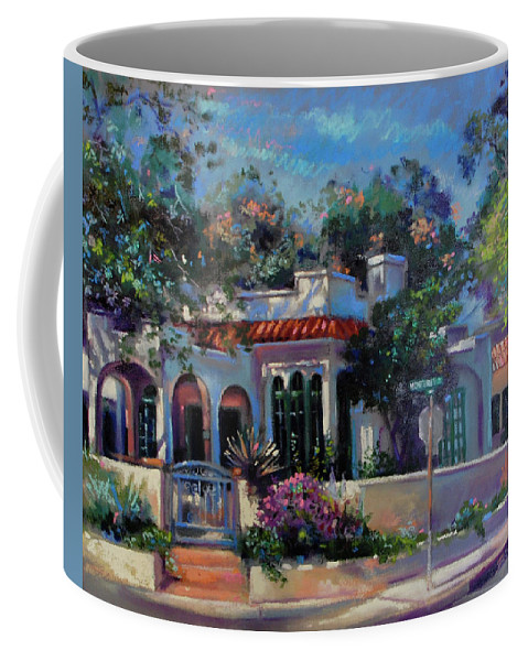 Commissioned Homes Coffee Mug featuring the painting 860 Monterey Road by BJ Lane