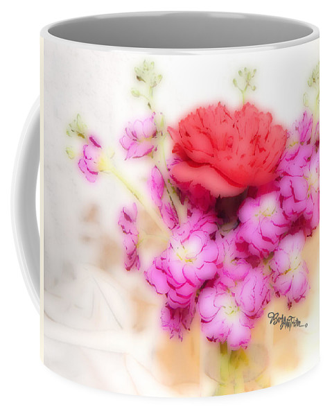 Art Coffee Mug featuring the photograph #8742 Soft Flowers by Barbara Tristan