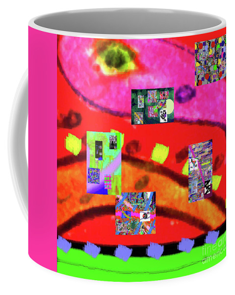 Walter Paul Bebirian Coffee Mug featuring the digital art 9-11-2015abcdefghijklmnopqrtuvwxyzabc by Walter Paul Bebirian