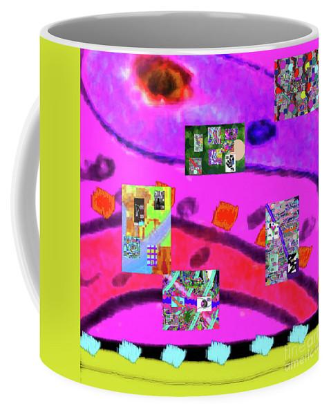 Walter Paul Bebirian Coffee Mug featuring the digital art 9-11-2015abcdefghijklmnopqrtuvwxyzabcdefgh by Walter Paul Bebirian