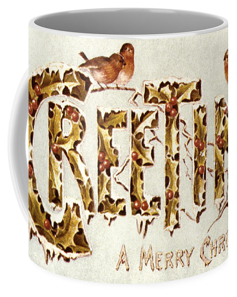19th Century Coffee Mug featuring the painting American Christmas Card by Granger