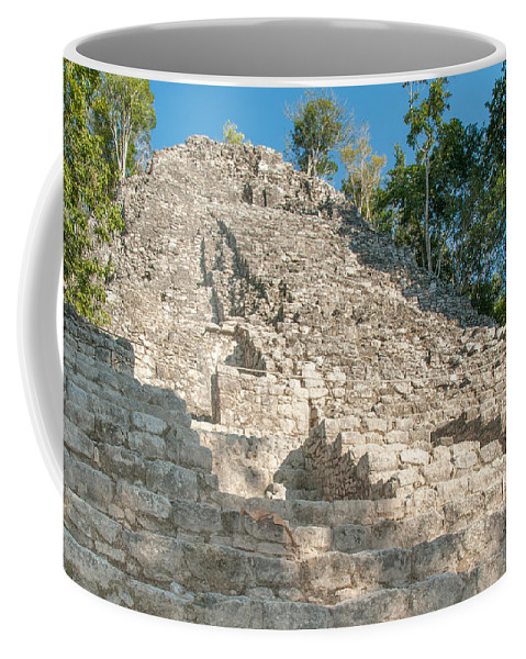 Mexico Quintana Roo Coffee Mug featuring the digital art Coba by Carol Ailles