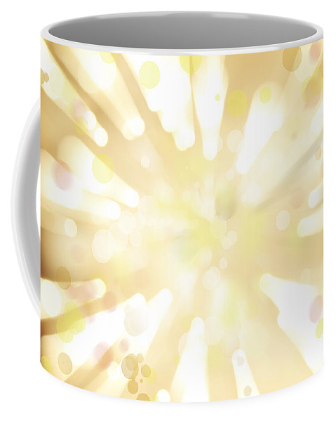Big Bang Coffee Mug featuring the digital art Explosive Background by Les Cunliffe