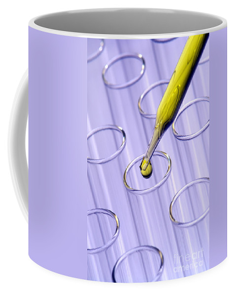 Chemical Coffee Mug featuring the photograph Laboratory Test Tubes In Science Research Lab by Olivier Le Queinec