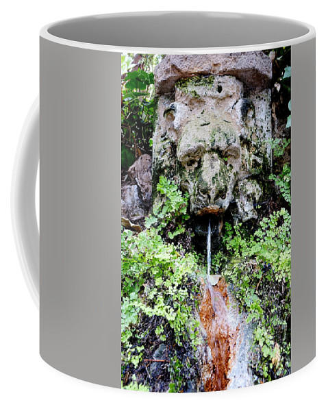 Public Fountain Coffee Mug featuring the photograph Public Fountain In Palma Majorca Spain by Richard Rosenshein