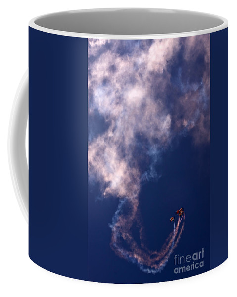 Raf Falcons Coffee Mug featuring the photograph Raf Falcons by Angel Ciesniarska