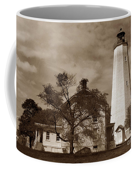 Lighthouses Coffee Mug featuring the photograph Sandy Hook Lighthouse Nj by Skip Willits