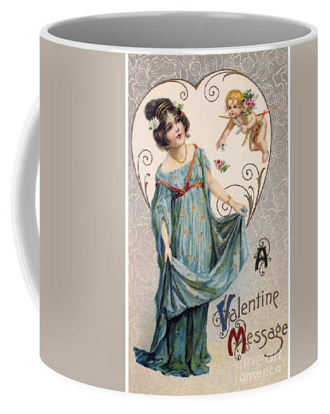 1915 Coffee Mug featuring the photograph Valentines Day Card by Granger