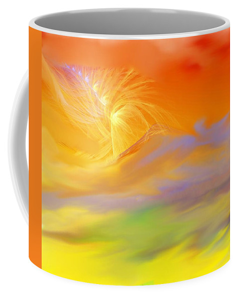 Fine Art Coffee Mug featuring the digital art A Band Of Angels Coming After Me by David Lane
