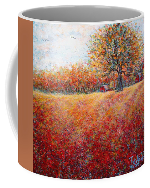 Autumn Landscape Coffee Mug featuring the painting A Beautiful Autumn Day by Natalie Holland
