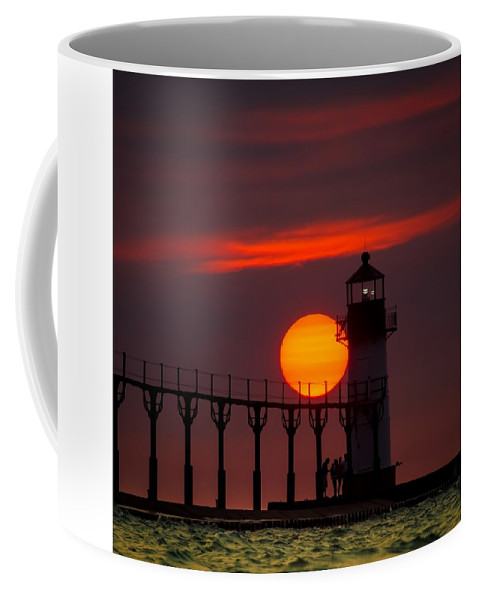 Coffee Mug featuring the photograph A Beautiful Evening - Tiscornia Park - St. Joseph, Mi by Molly Pate
