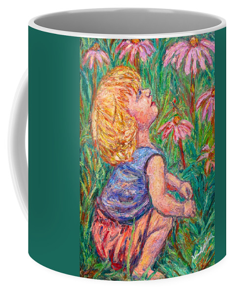 Child Coffee Mug featuring the painting A Beautiful Moment by Kendall Kessler