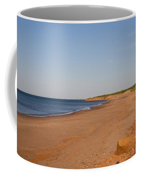 Prince Edward Island Coffee Mug featuring the photograph A Beautiful Summer Day On An Empty by Taylor S. Kennedy