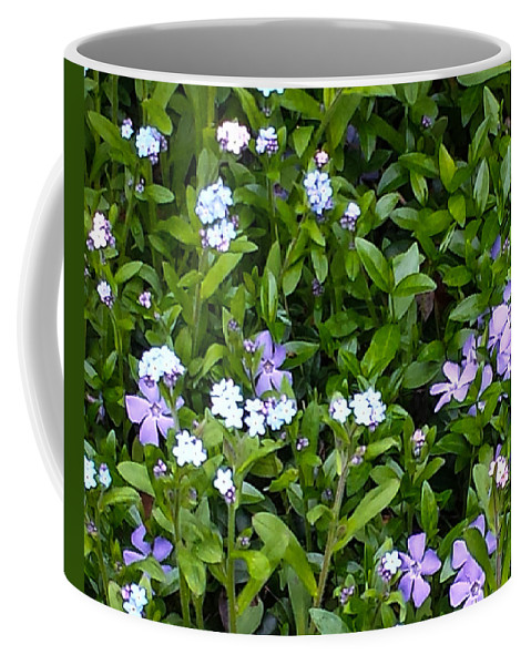 Creeping Myrtle Coffee Mug featuring the photograph A Bed Of Blooms by Jennifer Kohler