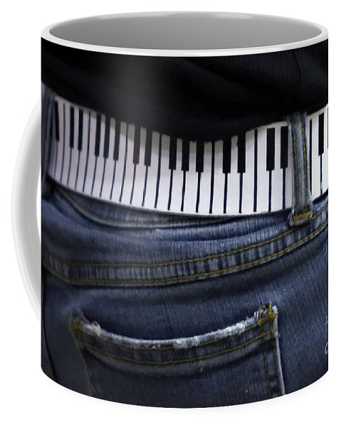 Acoustic Coffee Mug featuring the photograph A Belt Of Cords by Alan Look
