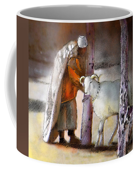 Eid Ul Adha Coffee Mug featuring the painting A Blessed Eid by Miki De Goodaboom