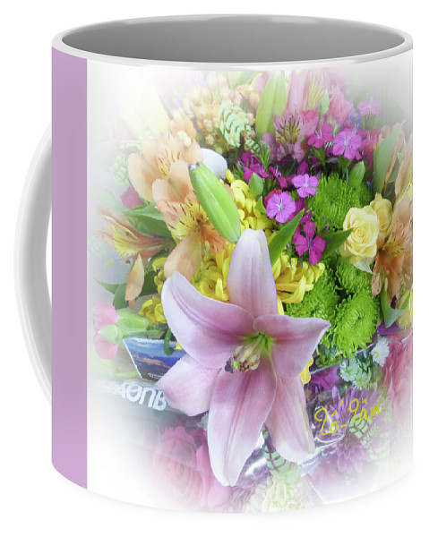 Lily Coffee Mug featuring the digital art A Bouquet For My Love 46 by To-Tam Gerwe