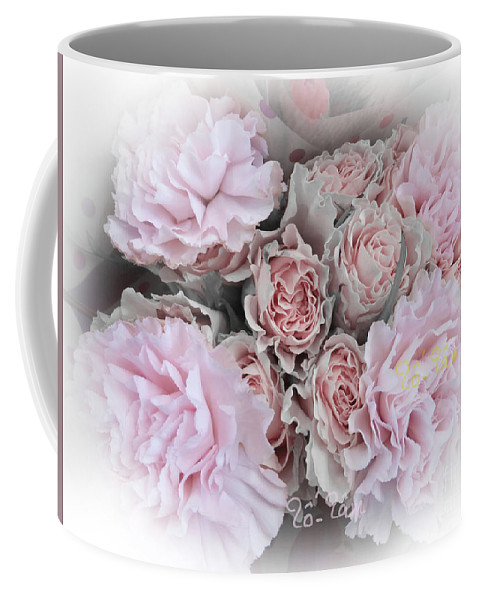 Carnation Coffee Mug featuring the digital art A Bouquet For My Love 47 by To-Tam Gerwe