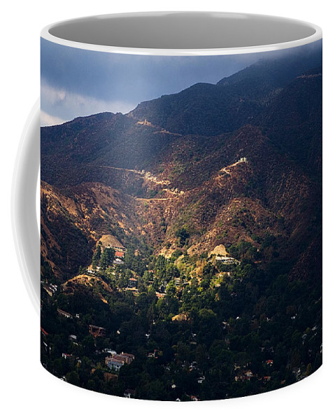 Clay Coffee Mug featuring the photograph A Break In The Clouds In Southern California by Clayton Bruster