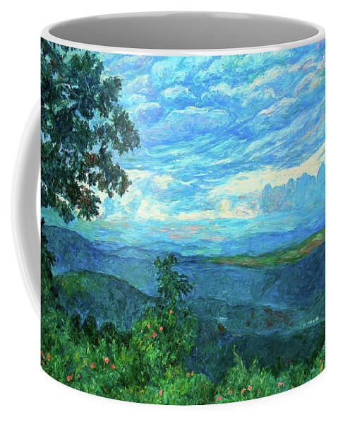 Mountains Coffee Mug featuring the painting A Break In The Clouds by Kendall Kessler