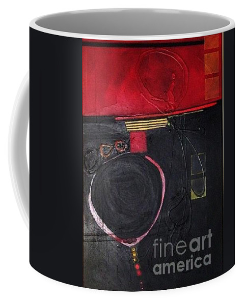 Abstract Coffee Mug featuring the painting A Broken Heart by Marlene Burns