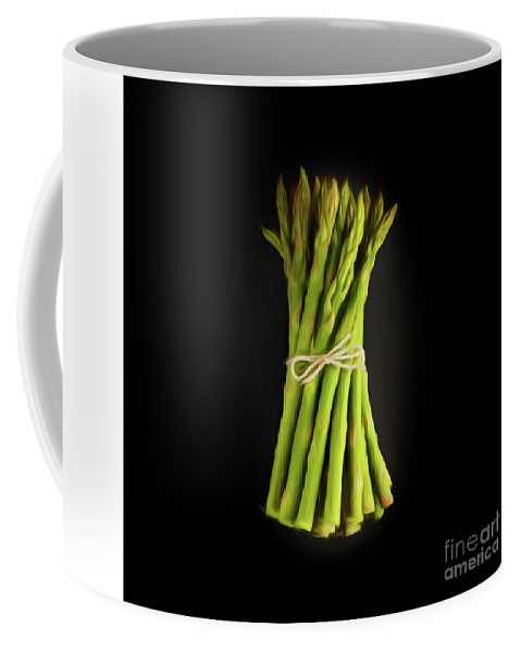 Raw Coffee Mug featuring the photograph A Bunch Of Fresh Asparagus. by Phill Thornton
