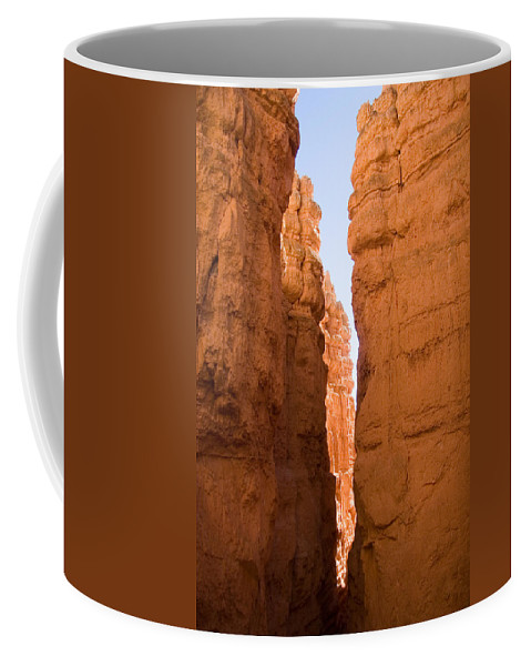 Canyons Coffee Mug featuring the photograph A Canyon Reflects Red Light Bouncing by Taylor S. Kennedy