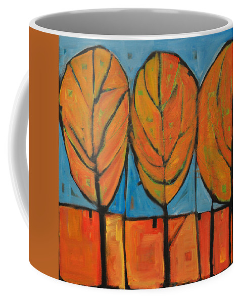 Fall Coffee Mug featuring the painting A Change Of Seasons by Tim Nyberg