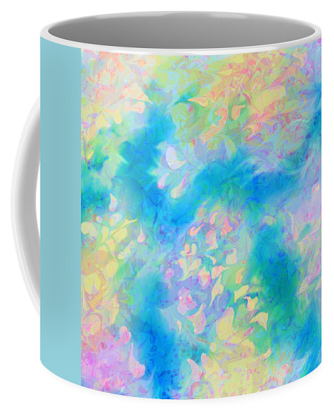 Abstract Coffee Mug featuring the digital art A Charmed Path by Rachel Christine Nowicki