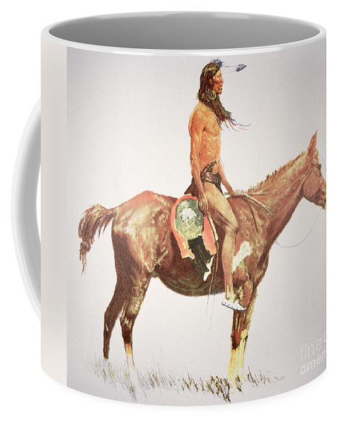 A Cheyenne Brave Coffee Mug featuring the painting A Cheyenne Brave by Frederic Remington