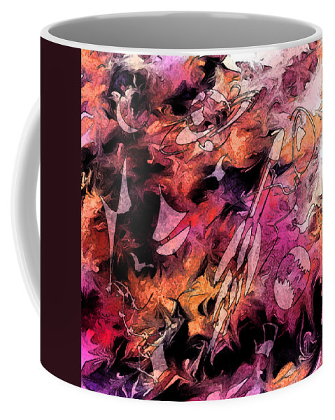 Abstract Coffee Mug featuring the digital art A Childhood by Rachel Christine Nowicki
