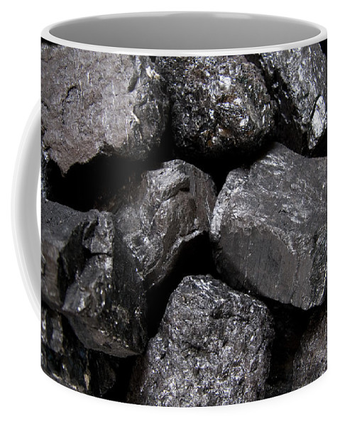 Coal Coffee Mug featuring the photograph A Close View Of Coal Ready For Burning by Taylor S. Kennedy