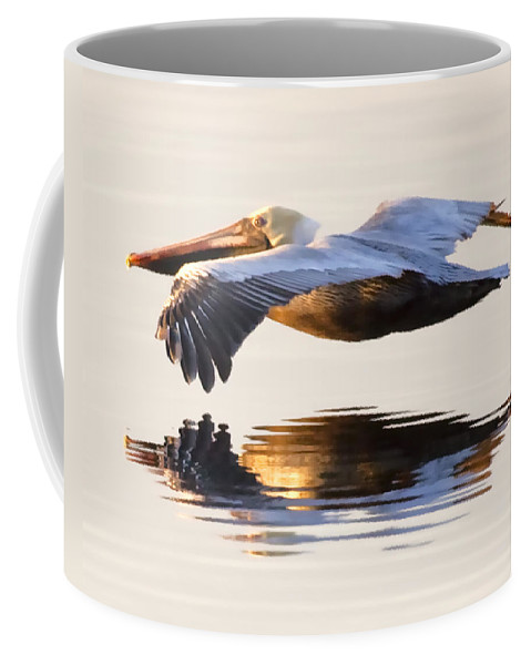 Pelican Coffee Mug featuring the photograph A Closer Look by Janet Fikar