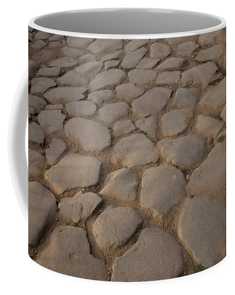 Photography Coffee Mug featuring the photograph A Cobblestone Road In Rome by Joel Sartore