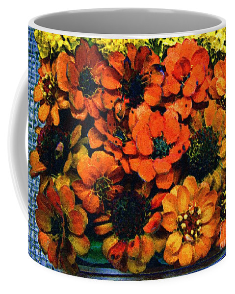 Flowers Coffee Mug featuring the painting A Collation Of Brilliance by RC DeWinter