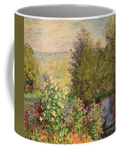Corner Coffee Mug featuring the painting A Corner Of The Garden At Montgeron by Claude Monet