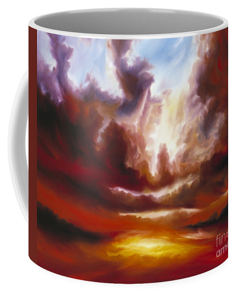 Tempest Coffee Mug featuring the painting A Cosmic Storm - Genesis V by James Christopher Hill