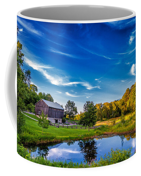 Pond Coffee Mug featuring the photograph A Country Place by Steve Harrington