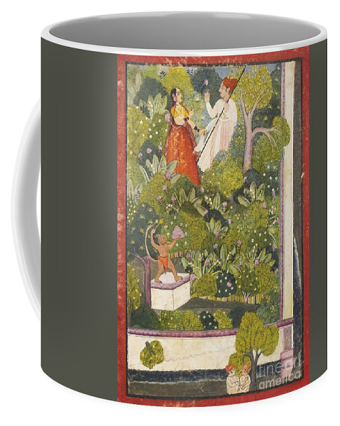 A Couple Bidding Farewell Coffee Mug featuring the painting A Couple Bidding Farewell by Celestial Images