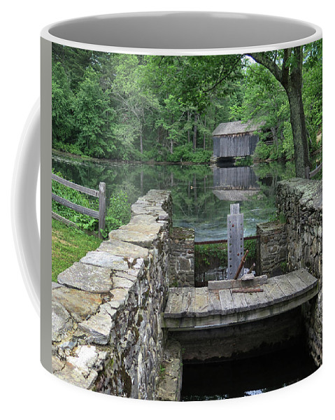 Covered Bridge Coffee Mug featuring the photograph A Covered Bridge by Dave Mills