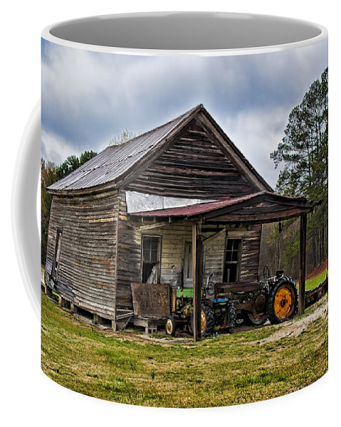 Barn Coffee Mug featuring the photograph A Crooked Little Barn by Christopher Holmes
