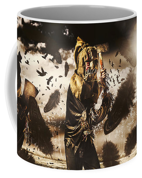 Crows Coffee Mug featuring the photograph A Crow Left Of The Murder by Jorgo Photography - Wall Art Gallery