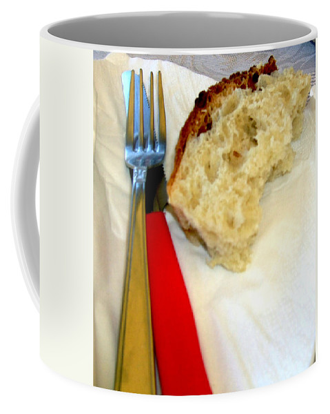 Bread Coffee Mug featuring the photograph A Crust Of Bread by Mindy Newman