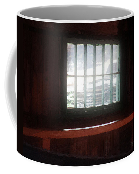 Window Coffee Mug featuring the painting A Dark And Fearsome Place by RC DeWinter